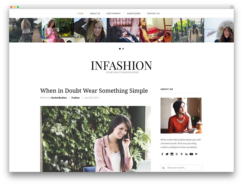 10 Best Fashion Blog Wordpress Themes 2018 All Template Reviews