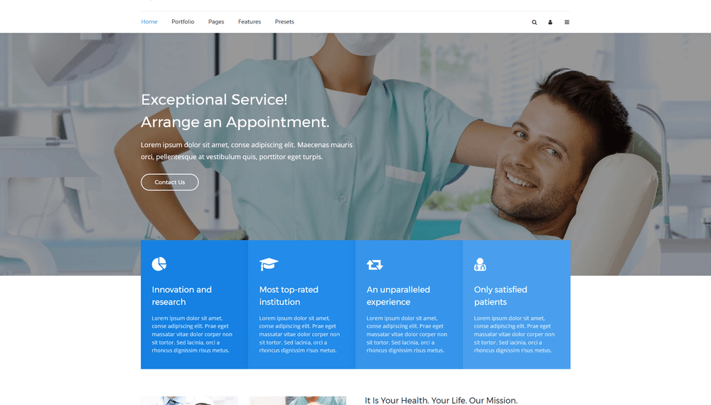Medical & dental Joomla template