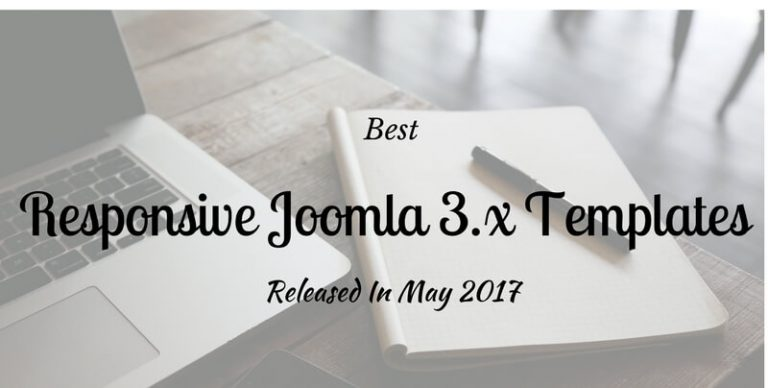 Joomla 3.7 Templates Released in May 2017