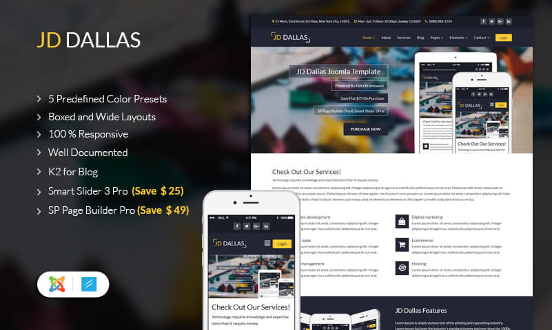 JD Dallas Business Joomla template