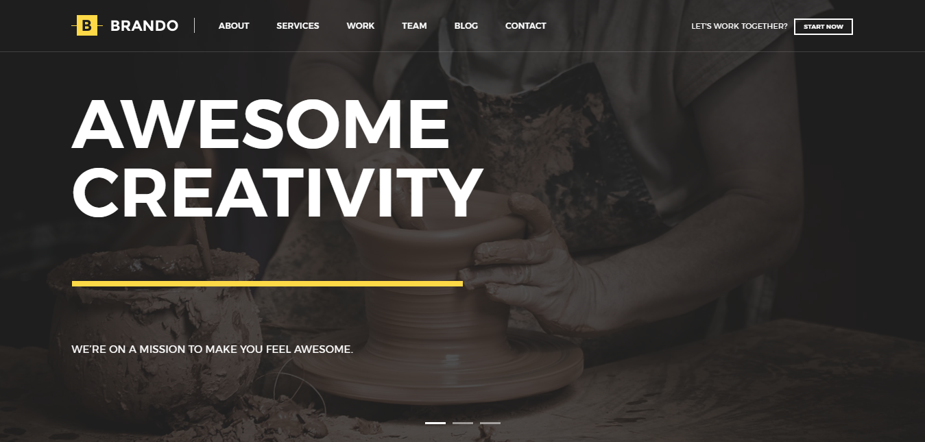 Brando Responsive Multipurpose OnePage WordPress Theme – Agency
