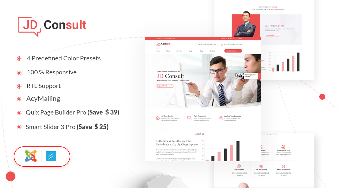 JD Consult- Ecommerce Joomla template