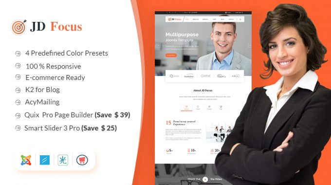 JD FOCUS Review | Multipurpose Joomla 3.8 Template