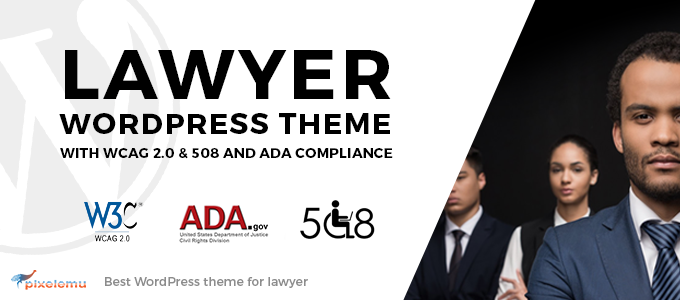 Lawyer WordPress Theme with WCAG 2.0 & 508 and ADA Compliance