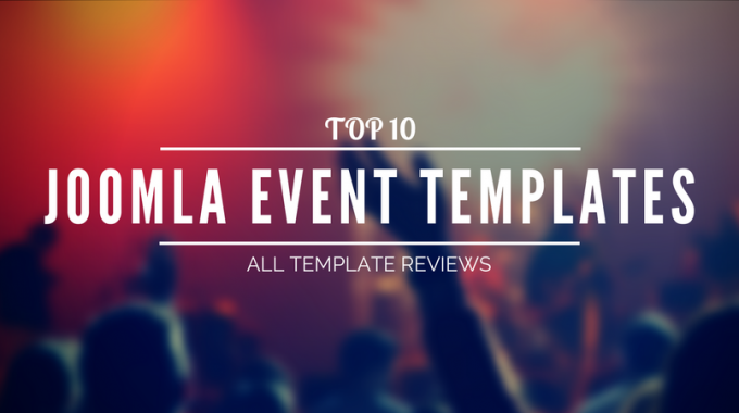 Top 10 Responsive Joomla Event Templates
