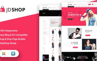JD Shop Joomla template Review: Great Option for Ecommerce Sites