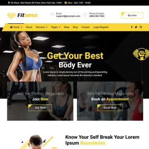 jd fitness gym joomla template
